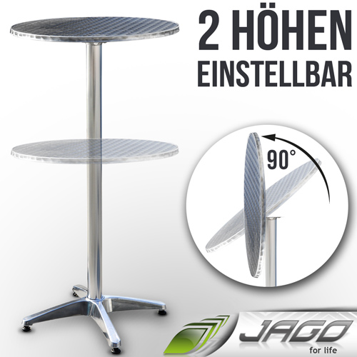 alu bistrotisch tisch biertisch stehtisch bartisch klappbar h henberstellbar neu ebay. Black Bedroom Furniture Sets. Home Design Ideas