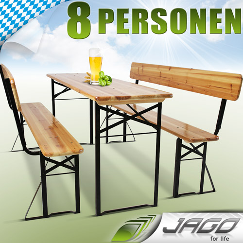 bierzeltgarnitur festzeltgarnitur biertisch bierbank lehne biertischgarnitur 2wl ebay. Black Bedroom Furniture Sets. Home Design Ideas