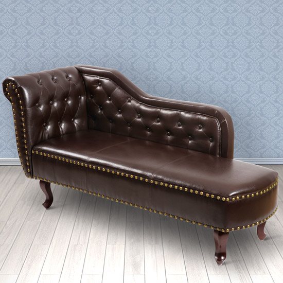 Chaise longue sofa lounger chesterfield seat armchair - Chaise longue chesterfield ...