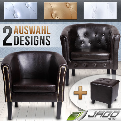 tub chair stool chesterfield faux leather living room furniture choice