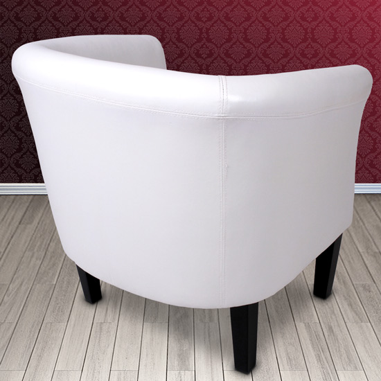 fauteuil chesterfield avec tabouret repose pied canap style anglais blanc ebay. Black Bedroom Furniture Sets. Home Design Ideas