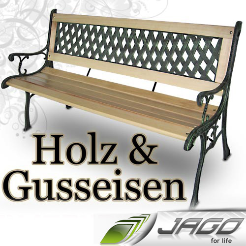 gartenbank holz und gusseisen. Black Bedroom Furniture Sets. Home Design Ideas