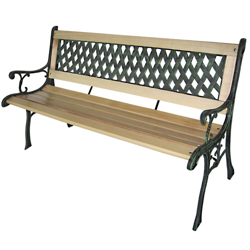 gartenbank sitzbank gartenm bel holzbank bank parkbank hartholz gusseisen kreuz ebay. Black Bedroom Furniture Sets. Home Design Ideas
