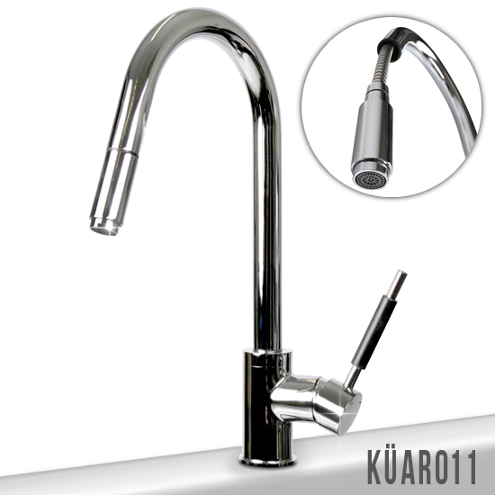 Kitchen Bath Tap LED Light Bathroom Sink Faucet Swivel