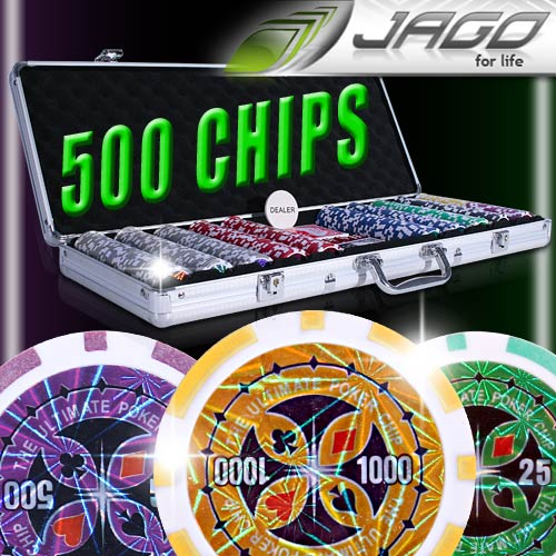 Pokerkoffer-Pokerset-Poker-Set-Laser-Pokerchips-500-Chips-Koffer-Jetons-Chips