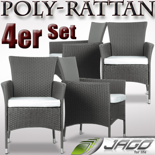 gartensessel polyrattan grau. Black Bedroom Furniture Sets. Home Design Ideas