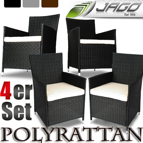 polyrattan rattan st hle stuhl gartenstuhl sessel rattanstuhl garten gartenm bel. Black Bedroom Furniture Sets. Home Design Ideas