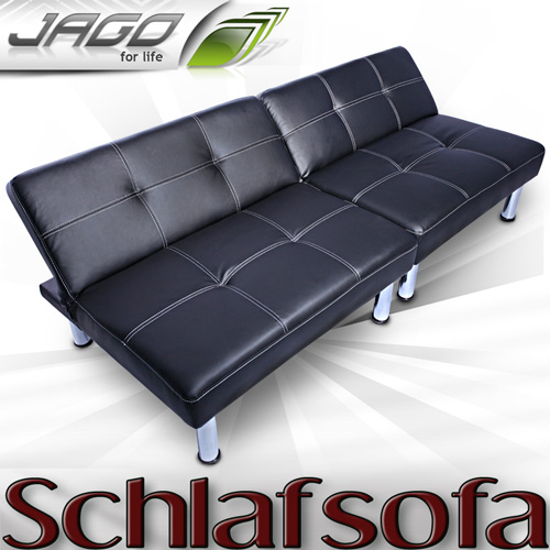 schlafsofa bettsofa schlafcouch sofa bettcouch lounge couch chrome bett schwarz ebay. Black Bedroom Furniture Sets. Home Design Ideas