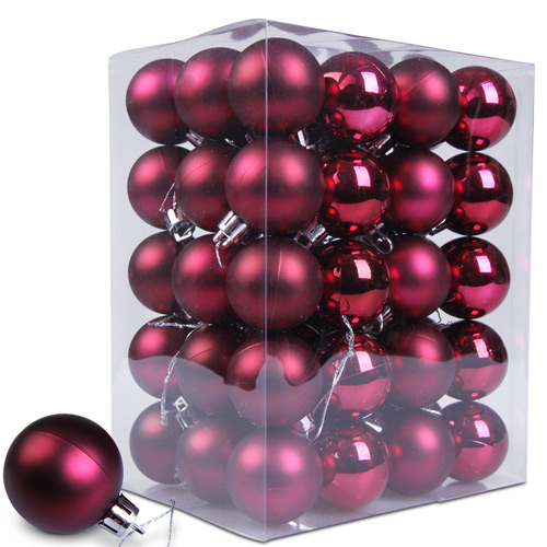 Christmas-Baubles-Tree-Decoration-Xmas-Balls-Ornament-Colour-Set-Choice-Home