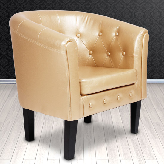 armchair tub chair chesterfield faux leather living room home furniture choice ebay. Black Bedroom Furniture Sets. Home Design Ideas
