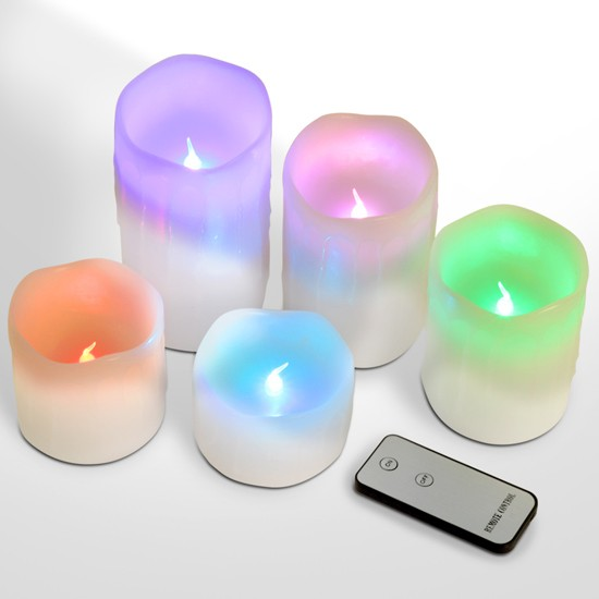 bougies led piliers cierge chandelle piles avec vraie cire t l commande choix ebay. Black Bedroom Furniture Sets. Home Design Ideas