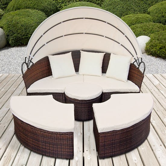 Emejing Salon De Jardin Lit Sofa Rond Modulable Photos - Awesome ...