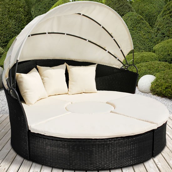 Rattan-Daybed-Table-Sun-Canopy-Lounger-Garden-Furniture-Patio-Terrace-Day-Bed