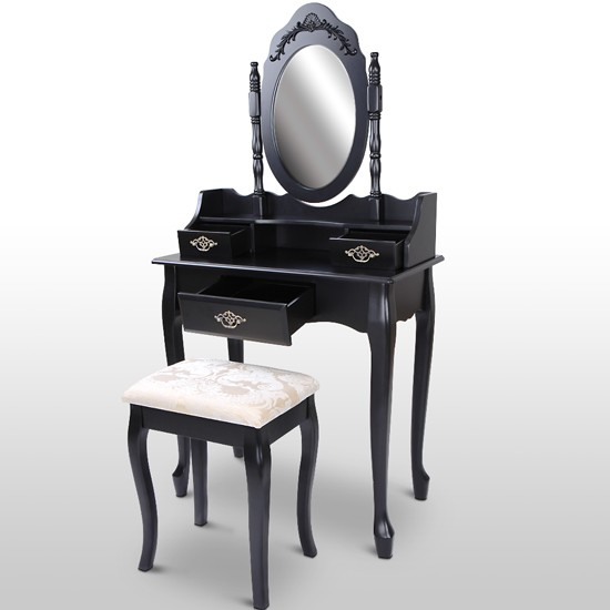 schminktisch inkl hocker spiegel frisierkommode. Black Bedroom Furniture Sets. Home Design Ideas