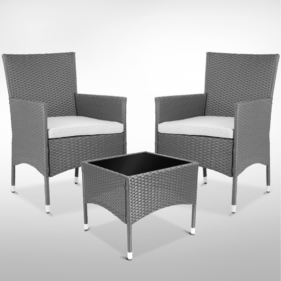 rattan polyrattan sitzgruppe set teetisch rattantisch st hle gartenm bel garten. Black Bedroom Furniture Sets. Home Design Ideas
